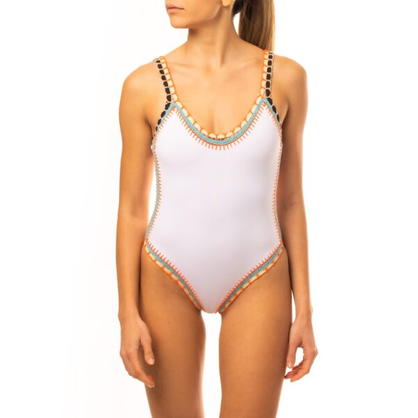 WHITE BLOSSOM ONE-PIECE