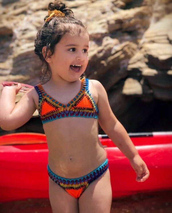 Peachy Neon Kids Swimwear